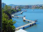 Inner city river walk