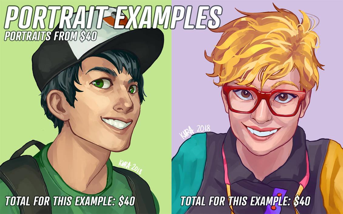 Portrait-examples-newpricing1 by kira-meku