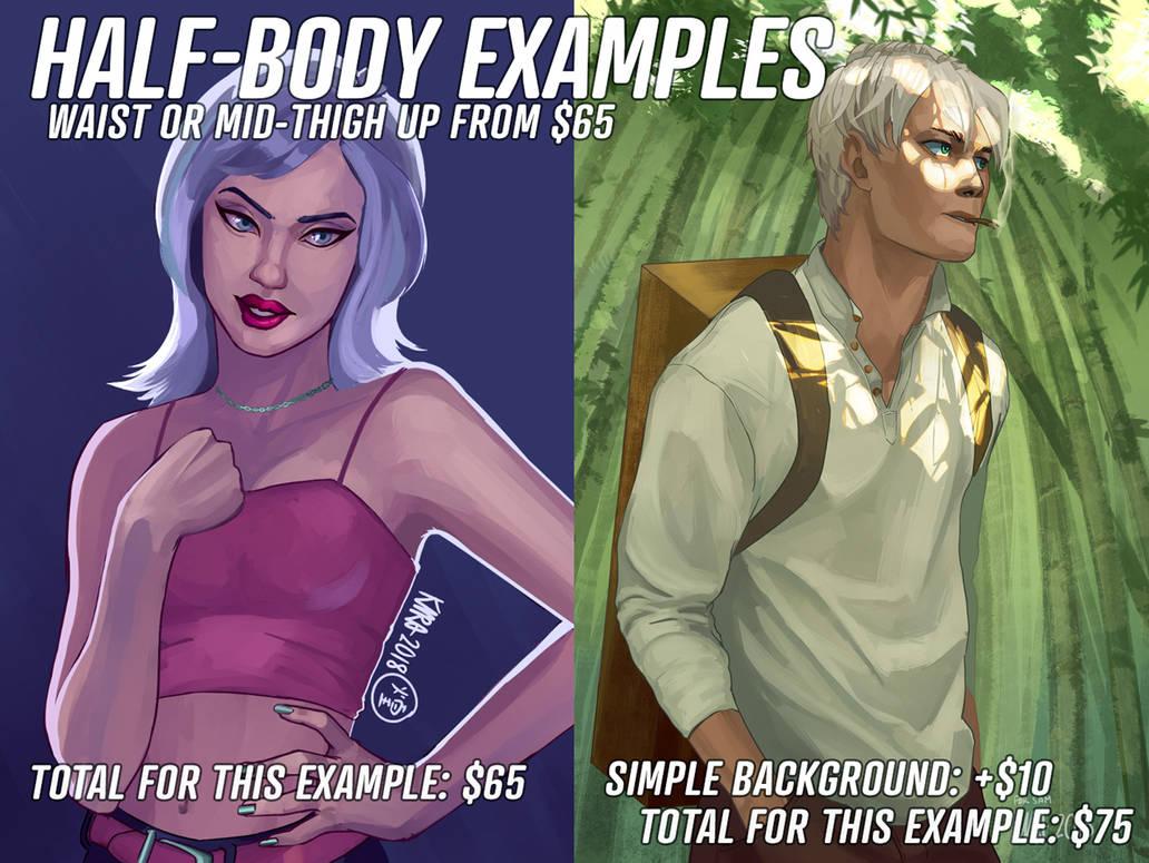 Halfbody-examples by kira-meku