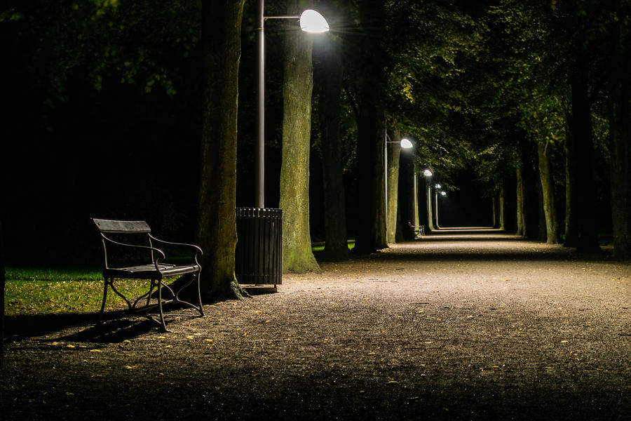 path at night park by martineriksen d5as99p