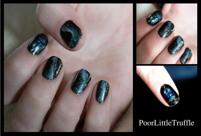 Tardis-galaxy Nail Art by PoorLittleTruffle