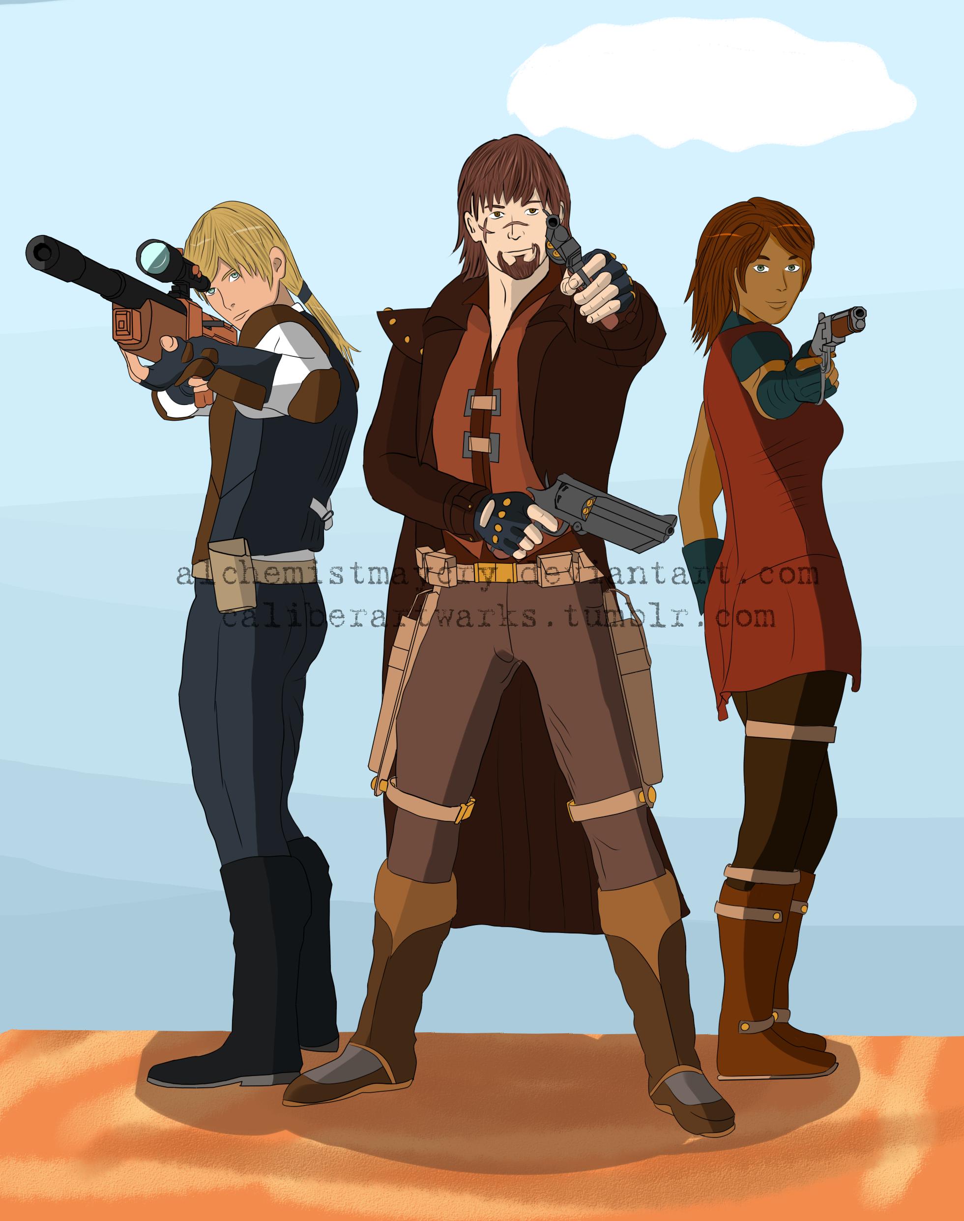 Gunslinger, Gadgeteer, Broker by AlchemistMayCry