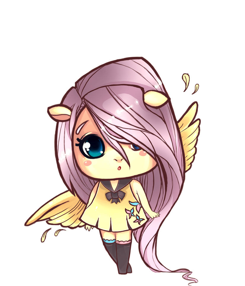 fluttershy chibi by Tigermint on DeviantArt