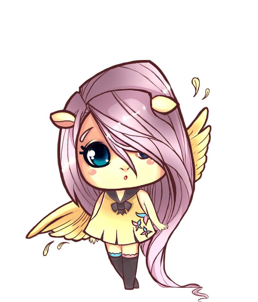 fluttershy chibi by Tigermint on DeviantArt
