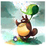 Totoro rainbow rain and other things