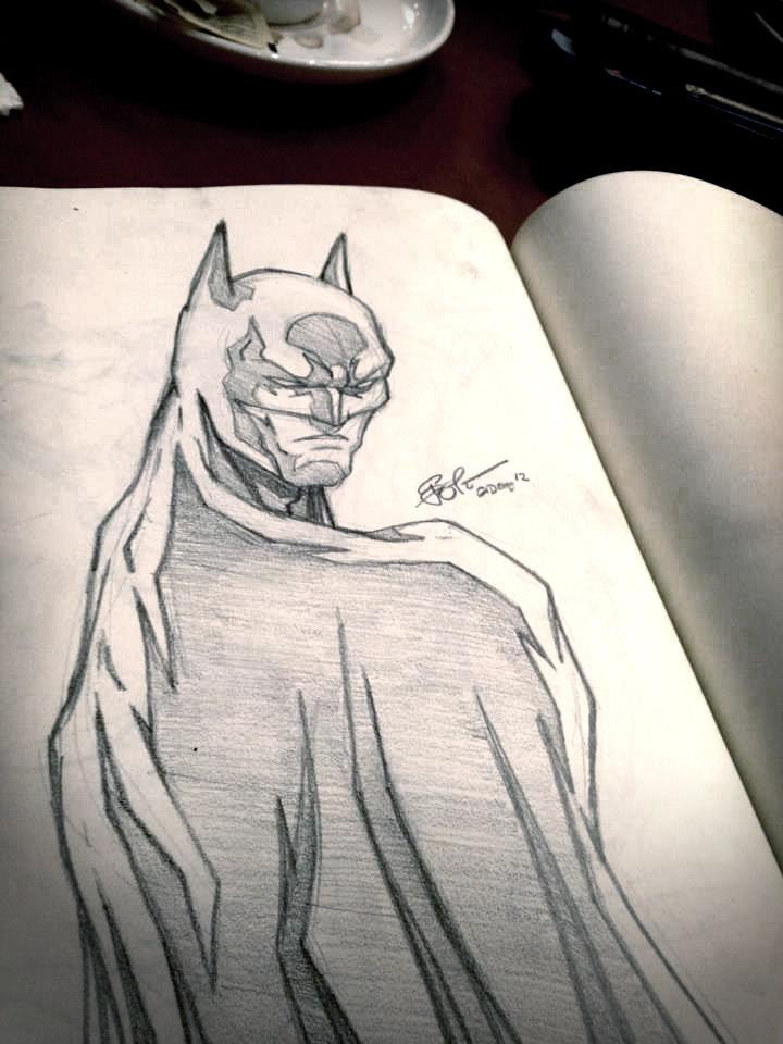 batman sketchy by gidge1201