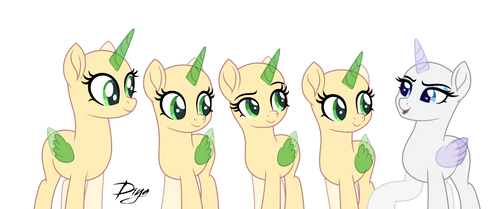Five ponies by DianaMur