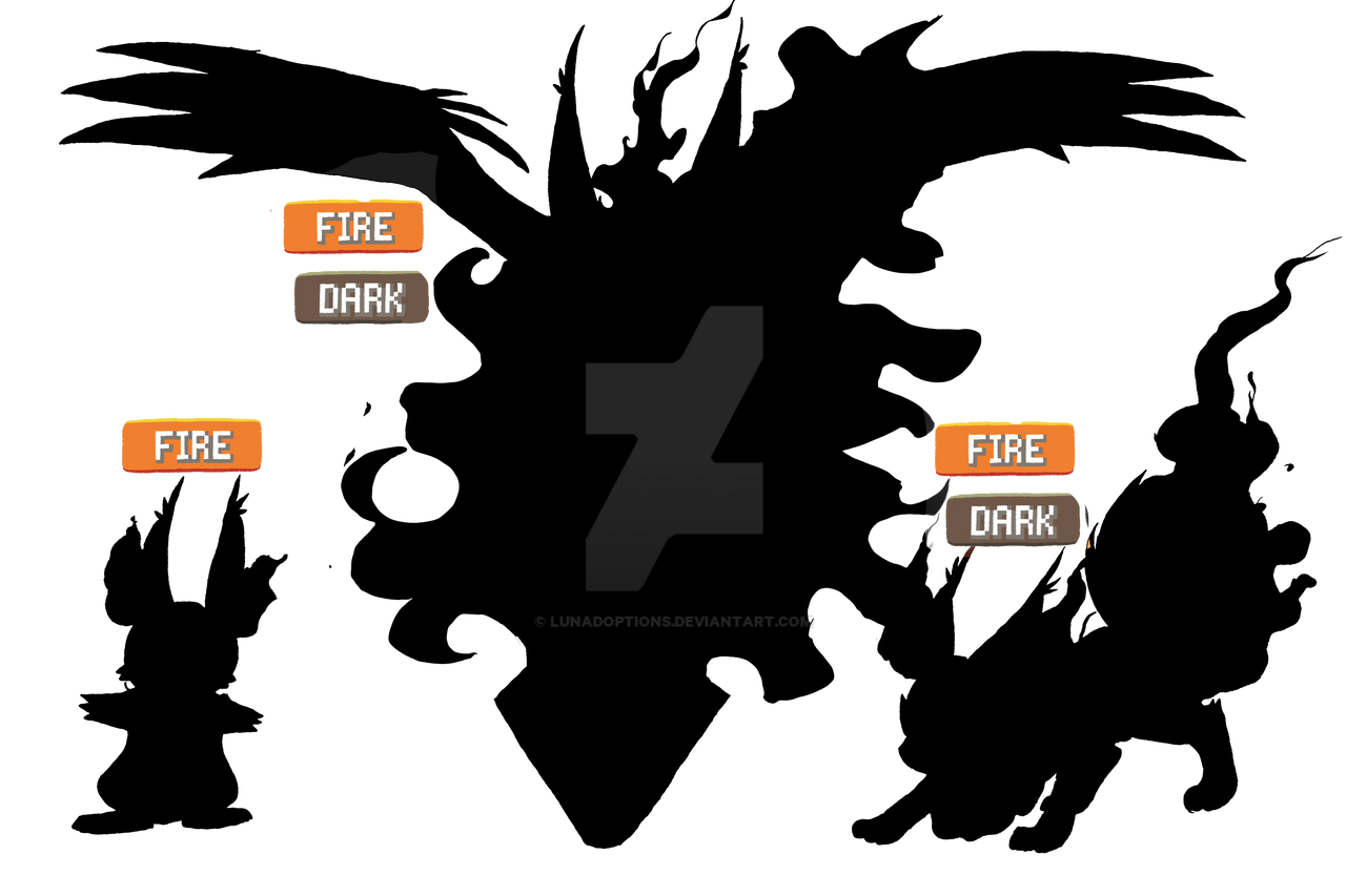 Uncategorized Dark Type firedark type pokemon starter auction closed by lunadoptions on lunadoptions