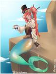 Steampunk mermaid by RubyNina