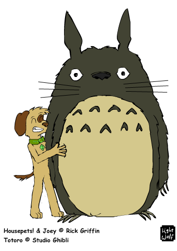 Joey Faves Totoro by lightwolf21