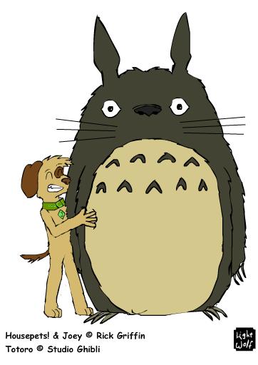 Joey Faves Totoro by lightwolf21