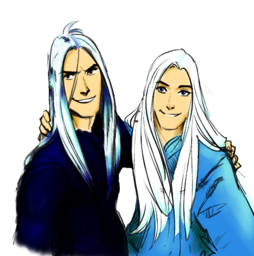 Manwe and Melkor by MorellAgrysis