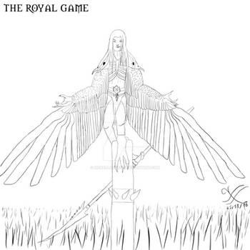 Harpy king - lineart