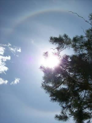 rainbow around the sun