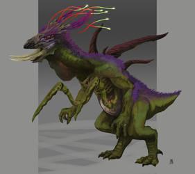 Monstruo Alien by Marcilustra