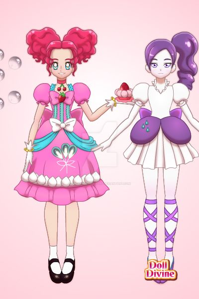 pinkie and rarity by theangelofdeath2
