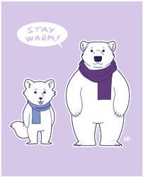 Stay warm! by Frinia