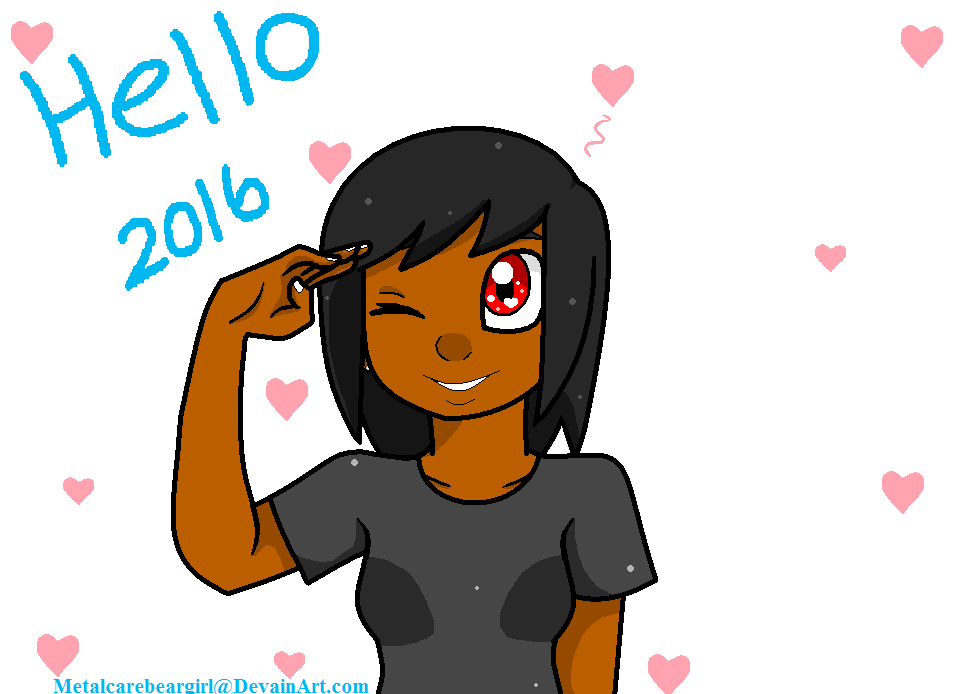 Ready for the new year! by MetalCarebearGirl