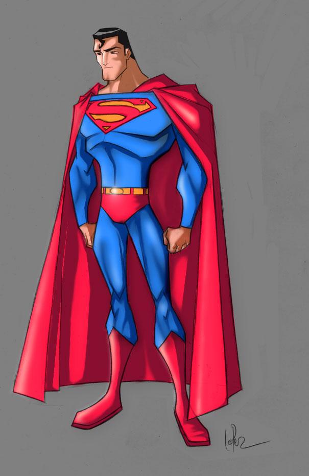superman colouring job by gvelasco