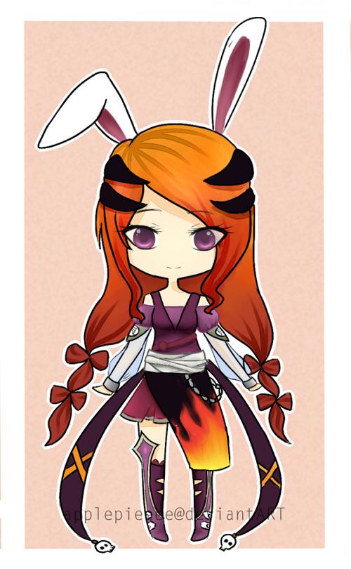 CLOSED:  Halloween Bunny Adopt by applepieeee
