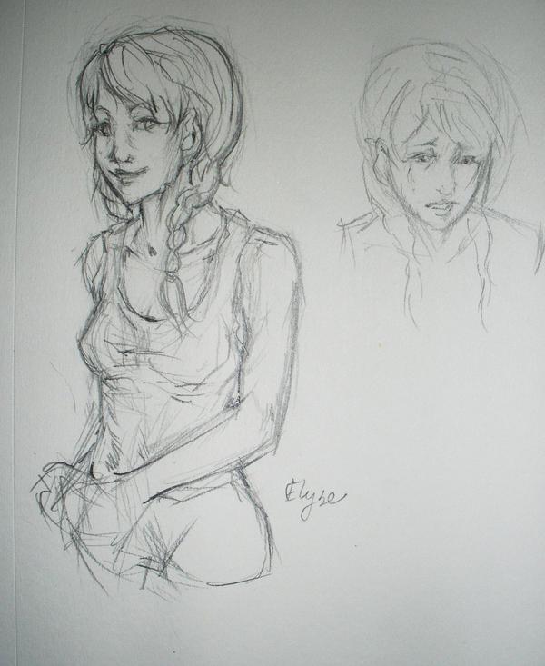 Elyse sketch by symbion-pandora