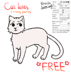 Christmas Calendar - Day 24 - Free Cat lineart