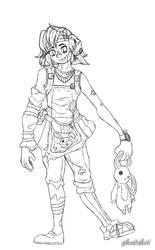 Tiny Tina (line art)