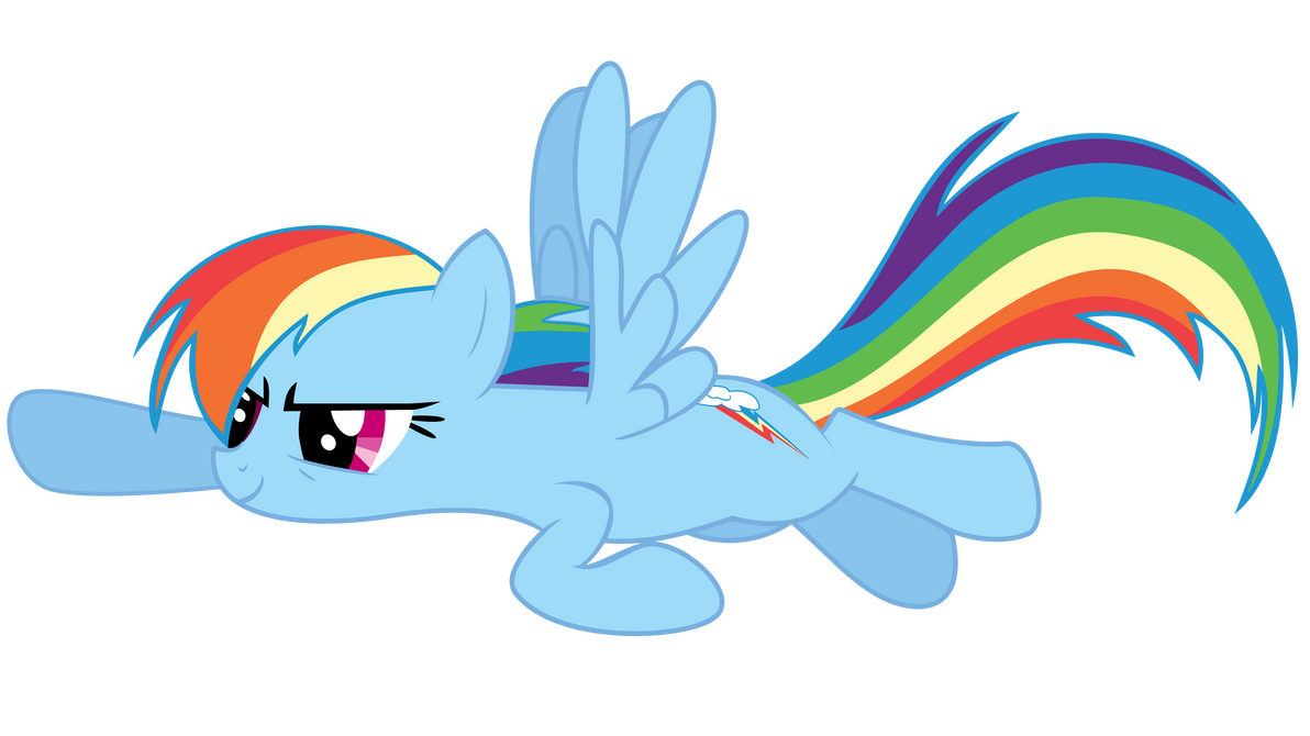 Rainbow Dash Vector 5 By MineXpertYT