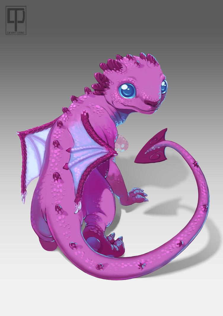 It Rubilaks !!! He is a formidable pink dragon) by Dekatomni