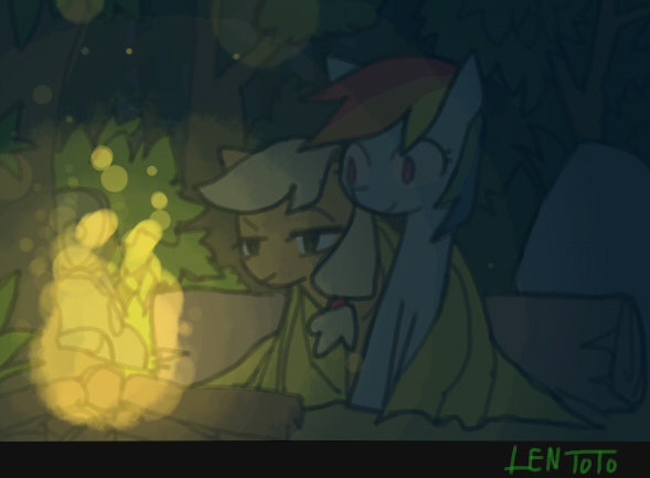 RD n AJ in forest by LenToTo