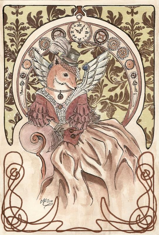 Steampunk Vixen by Haawan
