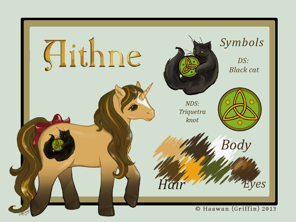 Aithne reference sheet by Haawan