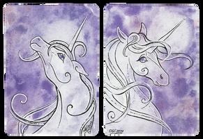 ATC pair Moon Unicorns by Haawan