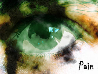 Pain eye by hollow-man