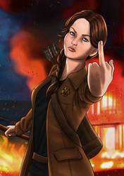 Katniss Everdeen by Nekromantics