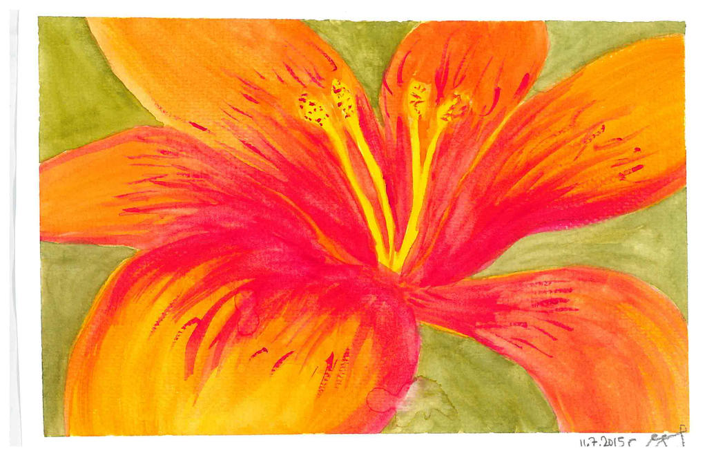 Watercolor flower by vihervirveli