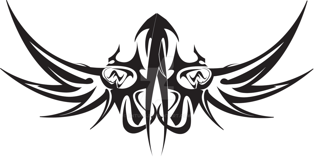 Line Art Vector Design Png : Tribal vector by entuos on deviantart