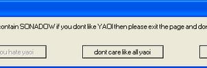 sonadow error message by oakthecrusedlciehog