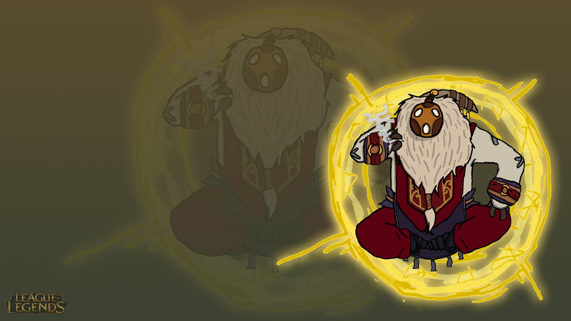 magical journey wallpaper lol bard by daatte on
