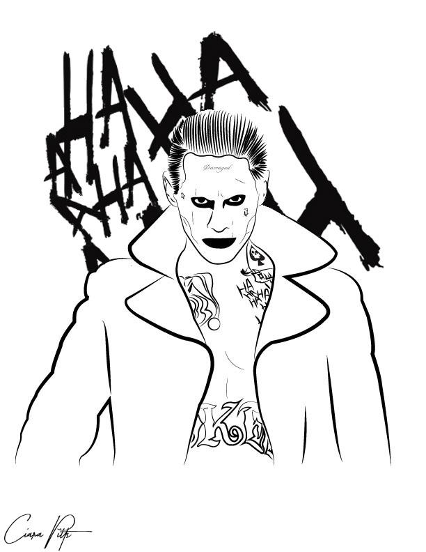 Digital Line Art : Joker digital line art by designbyciara on deviantart