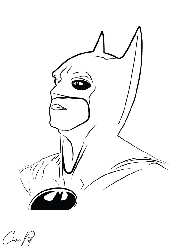 Digital Line Art : Batman digital line art by designbyciara on deviantart