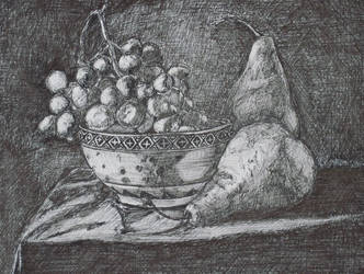 Bowl and Fruit by digistyle