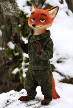 Felting. Military Nick Wilde