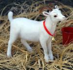 Needle felted goat