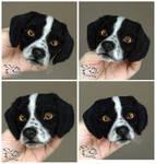 Needle felted magnet dog