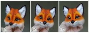 Needle Felted Brooch  Fox