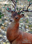 Needle felted fantasy deer