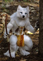 Needle Felted wolf Kamots by YuliaLeonovich