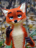 Needle Felted Nick Wilde by YuliaLeonovich
