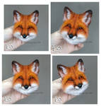 Needle Felted Brooch Fox